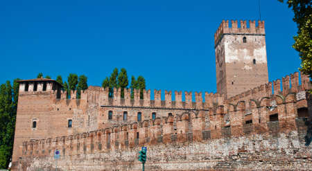Castelvecchio in the City of Verona in Northern Italy  photo