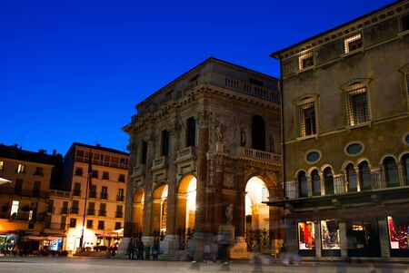 The palazzo del Capitaniato, also known as loggia del Capitanio or loggia Bernarda, is a palazzo in Vicenza, northern Italy Stock Photo