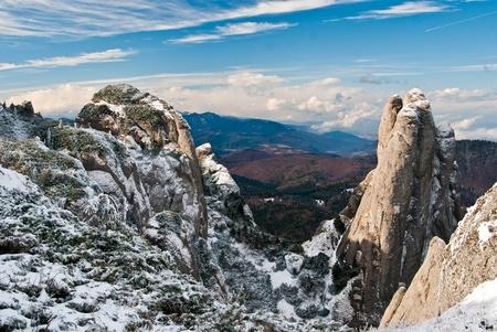 Mountain landscape in Carpathians (Romania), Ciucas mountains.