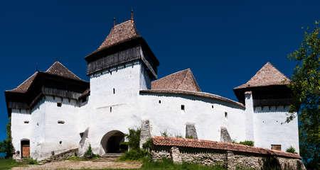 Fortified church of Viscri, Romania Stock Photo