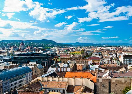 A panorama over Budapest city, capital of Hungary Stock Photo - 9585014