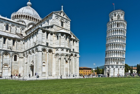Cathedral of Pisa and the Leaning Tower, Romanesque architecture in Tuscany Reklamní fotografie - 9684747
