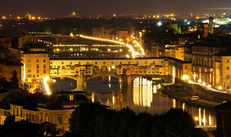 Night view over Florence, in Italy photo