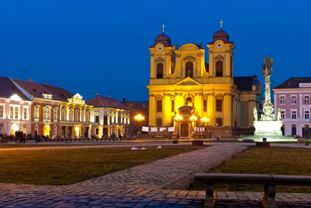 Unirii Square in Timisoara, Romania at twilight Reklamní fotografie