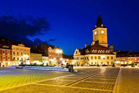brasov: Council square, main square in Brasov Stock Photo