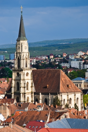 cluj: St. Michael church in Cluj Napoca Stock Photo