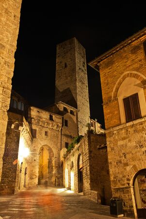 San Gimignano is a small walled medieval hill town in the province of Siena, Tuscany, north-central Italy photo