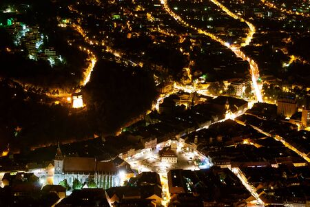 Night view of Brasov, from Tampa photo