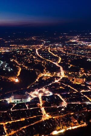 brasov: Night view of Brasov, from Tampa
