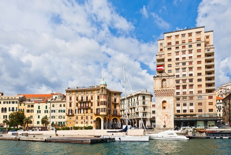 Harbor of Savona, Liguria, Italy photo