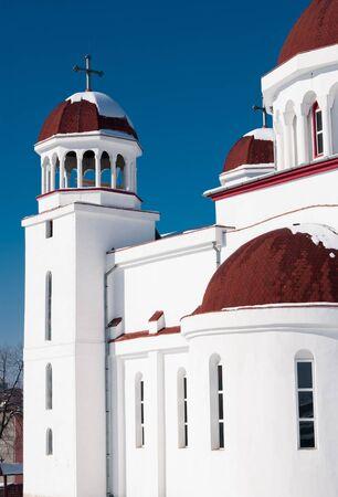 ortodox: Detailes of an ortodox church, in Brasov, Romania  Stock Photo
