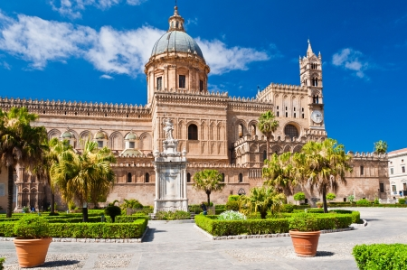 The Cathedral of Palermo is an architectural complex in Palermo (Sicily, Italy).  Stock Photo