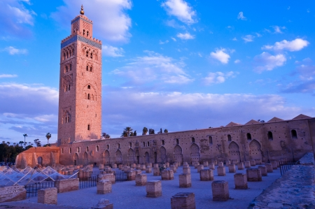 Koutubia mosque in Marakesh - one of most popular tourism destination in Morocco Stock Photo