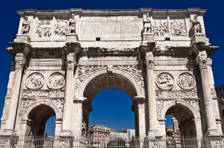 constantine: The Arch of Constantine near the Colosseum in Rome, Italy