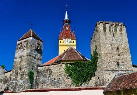 cristian: The fortified church in Cristian Village, Brasov district, Romania.