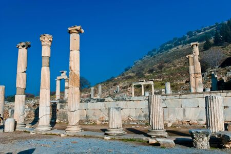 Ruins of the ancient city - Efes in Turkey photo
