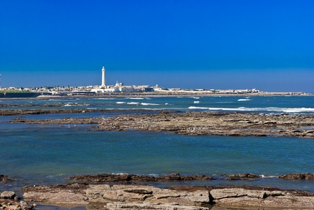 Lanscape of a beach in Casablanca, Marocco
