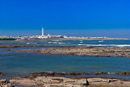 Lanscape of a beach in Casablanca, Marocco photo