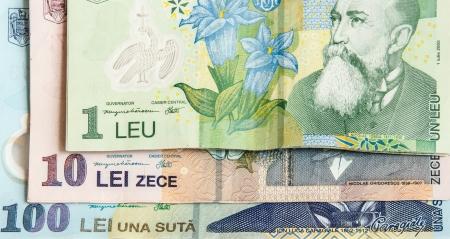 leu: Abstract closeup of romanian curency Leu
