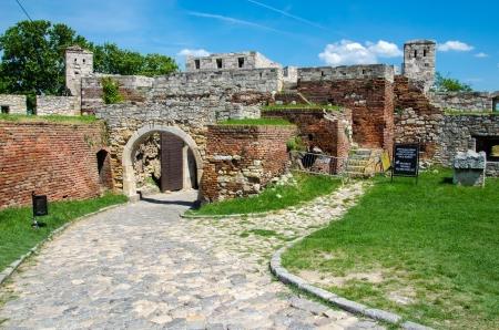 Gate inside Kalemegdan Fortress, Belgrade, Serbia