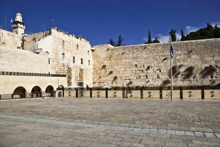 The western wall The Buraq Wall  is located in the Old City of Jerusalem 免版税图像 - 16540997