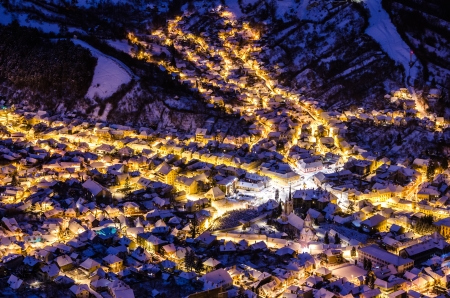 A night exposure over old part of Brasov called Schei photo