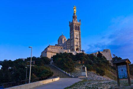 marseille: Basilique Notre-Dame-de-la-Garde, Marseille, Frankrijk