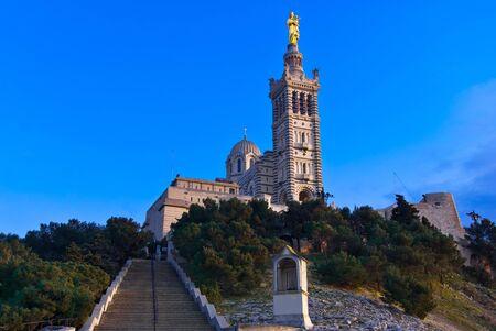 Basilique Notre-Dame-de-la-Garde, Marseille, France Reklamní fotografie
