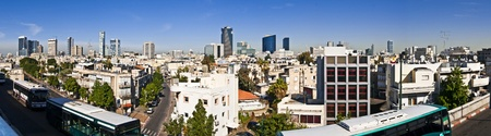 buss: Tel-Aviv, viewed from above,the buss station,in the midle of the city Contrast between towers and poor buildings
