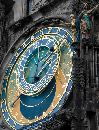 Prague Orloj astronomical clock  photo