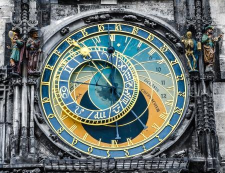 Prague Orloj astronomical clock 免版税图像 - 19576545