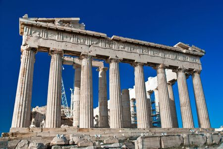 The Parthenon  Greek is a temple on the Athenian Acropolis, Greece photo