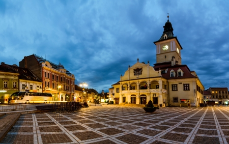 Council square is the main square in Brasov, Transylvania