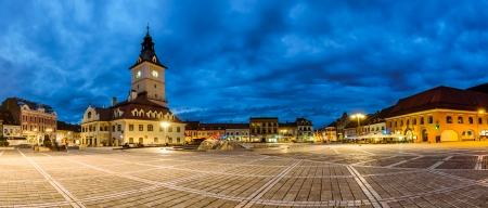 Council square is the main square in Brasov, Transylvania Reklamní fotografie - 20679276