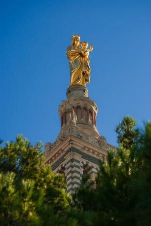 Basilique Notre Dame de la Garde, Marseille, France, close-up photo