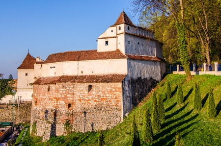 stronghold: Weavers bastion part of Brasov fortress, in hexagon shape