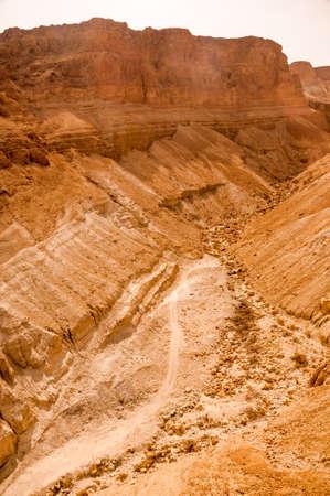 judaean: Rock Formation in Judaean Desert near Masada in Israel