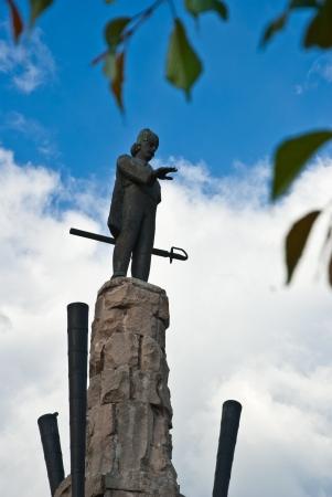 napoca: Avram Iancu Statuette,in the main square of Cluj Napoca