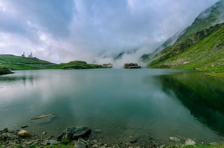 balea: Balea Lake caban situated on the top of the transfagarasan road