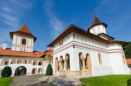 Sambata monastery and its orthodox church, a landmark located near Brasov, Romania  photo