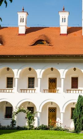 fagaras: Dettaglio architettonico al Sambata complesso monastico, Monti Fagaras