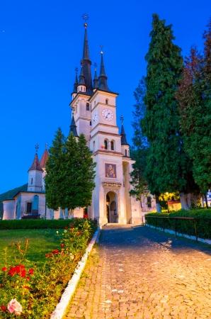 episcopal: Saint Nicholas Church from Brasov City, Transilvania