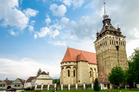Saschiz fortified evangelical church in Transylvania, Romania