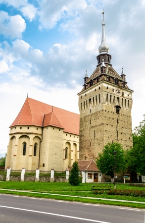 Saschiz fortified evangelical church in Transylvania, Romania photo