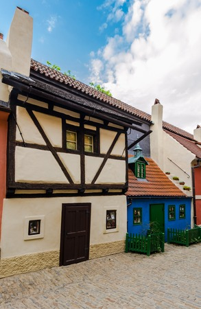 mannerism: Golden Lane (Zlata Ulicka in czech), the street full of small houses built in Mannerism style at the end of the 16th century. On this street lived Kafka. Prague, Czech Republic