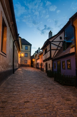 Golden Lane (Zlata Ulicka in czech), the street full of small houses built in Mannerism style at the end of the 16th century. On this street lived Kafka. Prague, Czech Republic photo
