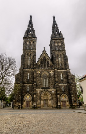 established: Church of St. Peter and Paul on Vysehrad in Prague. Established in 1st half of 11 century, last rebuild was finished in 1903.