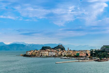 A landscape of Corfu island with the mountains  photo