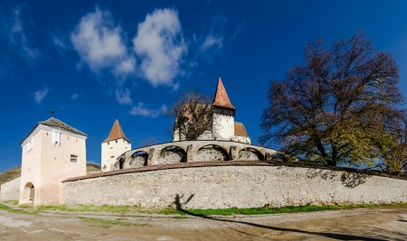 biertan: Biertan is one of the most important Saxon villages with fortified churches in Transylvania  It was the seet of the Lutheran Evangelical Bishop in Transylvania between 1572 and 1867 Stock Photo