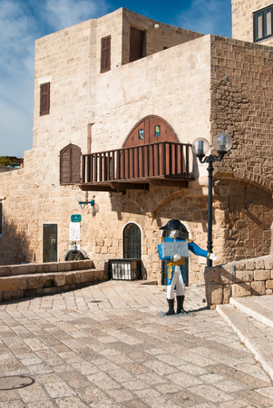 The centre of old city of Jaffa, Israel  Jaffa is a southern, oldest part of Tel Aviv   Jaffa is famous for its association with the biblical story of the prophet Jonah photo